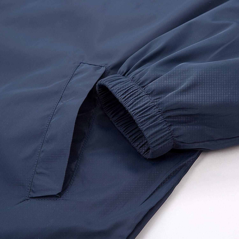 PaulJones Mens Lightweight Watertight Rain Jacket Windbreaker with Hood