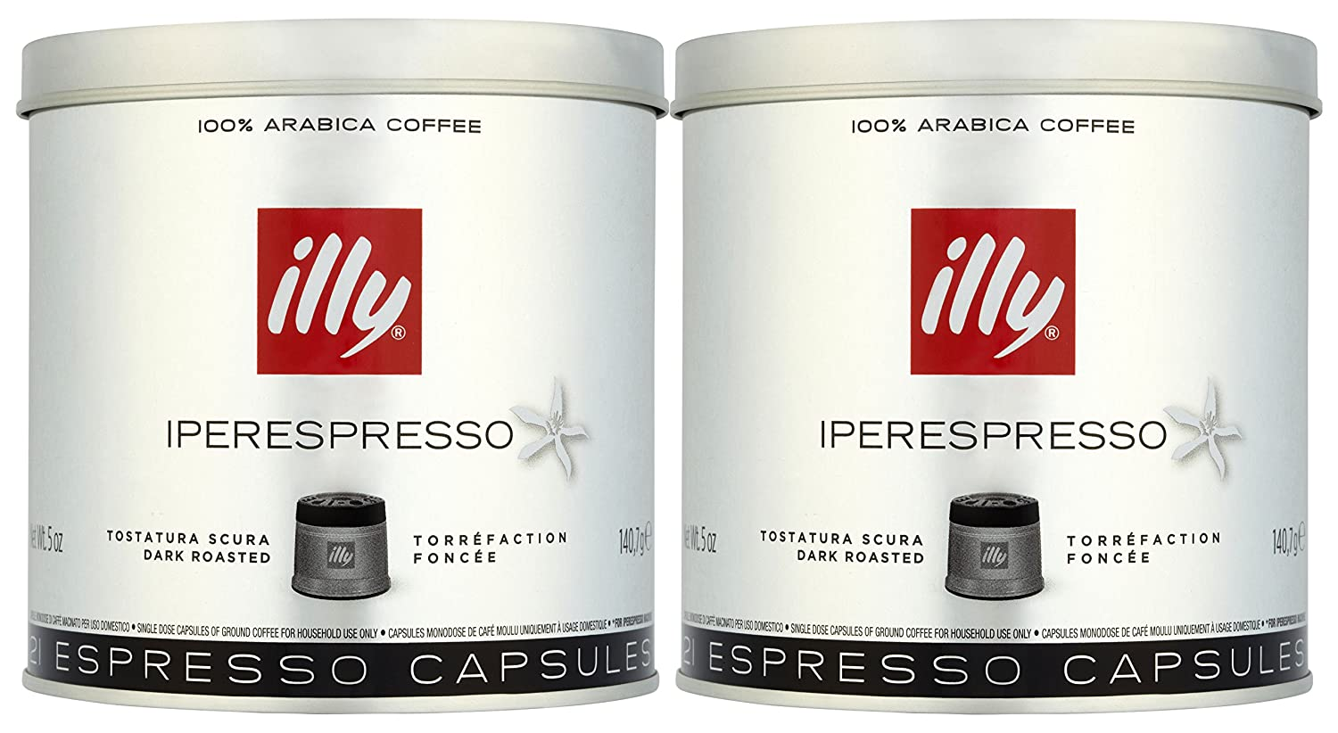 illy Dark Roast Iperespresso Coffee 21 Capsules (Pack of 2, Total 42 Capsules): Amazon.com: Grocery & Gourmet Food