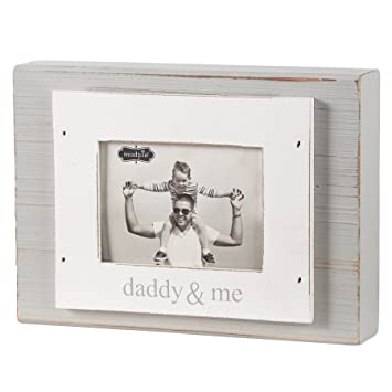 Amazon.com : Mud Pie Daddy and Me Frame, White/Gray : Baby
