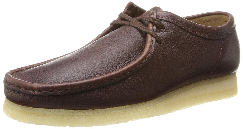 braun Leather Clarks Wallabee Schuh
