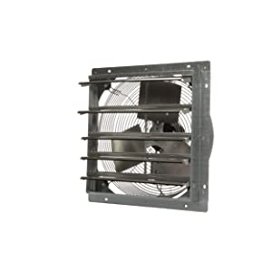"""TPI Corporation CE18-DS Direct Drive Exhaust Fan, Shutter Mounted, Single Phase, 18"""" Diameter, 120 Volt"""