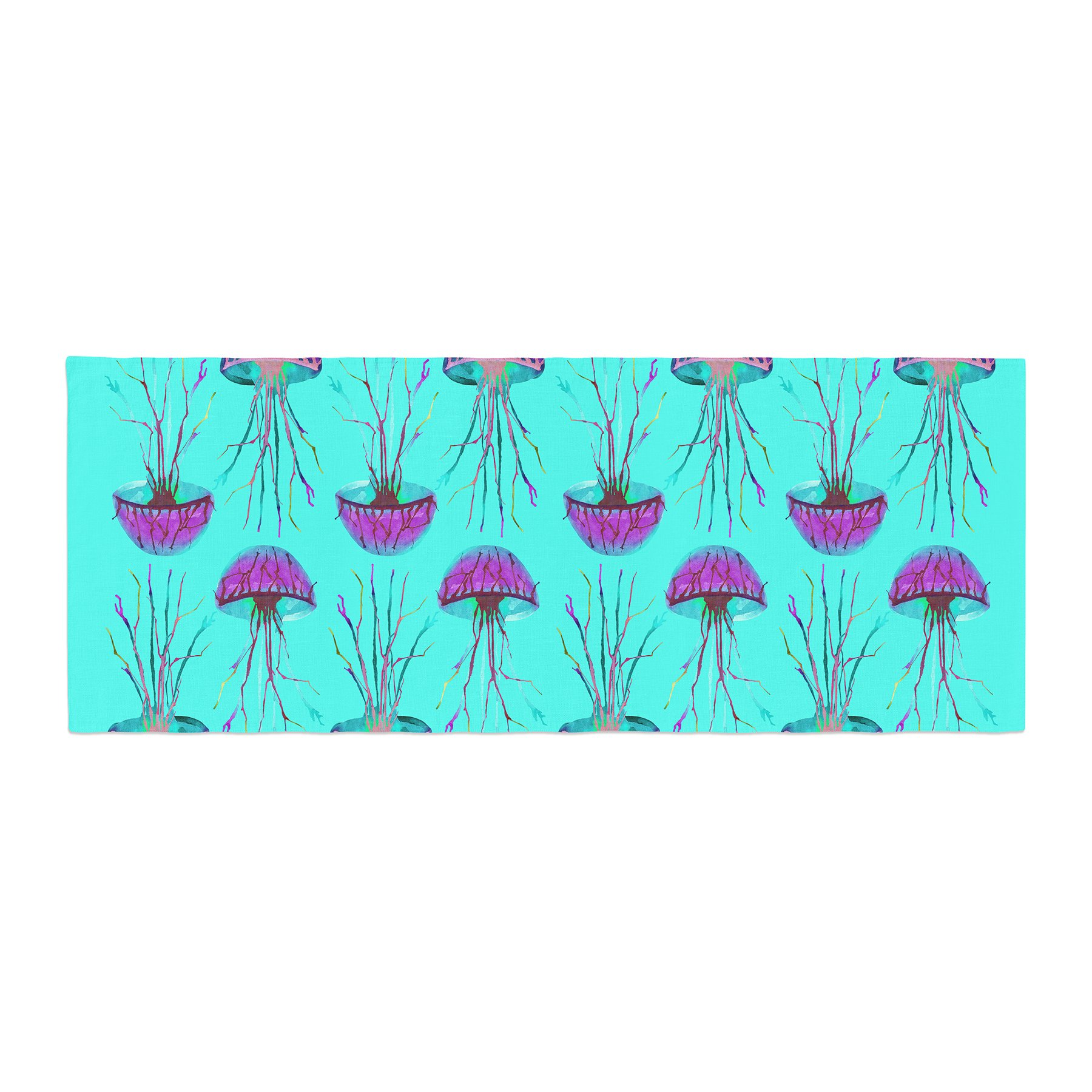 Kess InHouse Ivan Joh Turquoise Dance Teal Purple Bed Runner, 34'' x 86''
