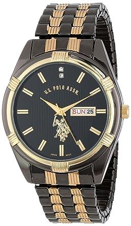Montre U Homme sPolo Bracelet Acier Noir Inoxydable AssnUsc80047 JK3TlcF1