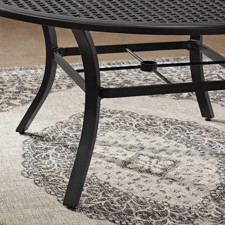 Amazon com agio outdoor patio rust proof cast aluminum 7pc sunbrella cushioned dining set garden outdoor