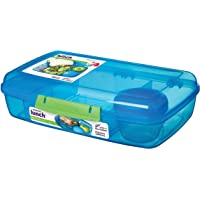 Sistema Lunch Collection Bento Box, Solid Assorted Colors with Contrasting Klips