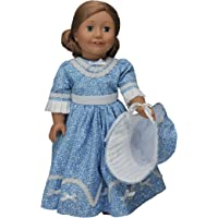 1800's Historic Style Sunday Dress, Fits 18 American Girlツョ Doll Clothes & Clothing Accessories