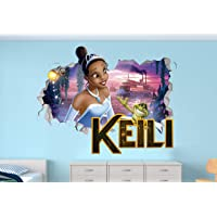 The Princess and The Frog Custom Name 3D Personalized Wall Decal Sticker - Kids...