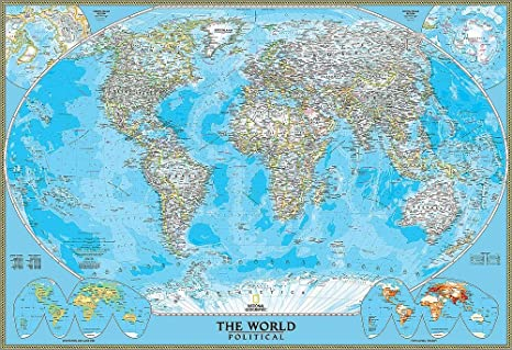 National Geographic\'s Political World Map Wall Mural -- Self ...