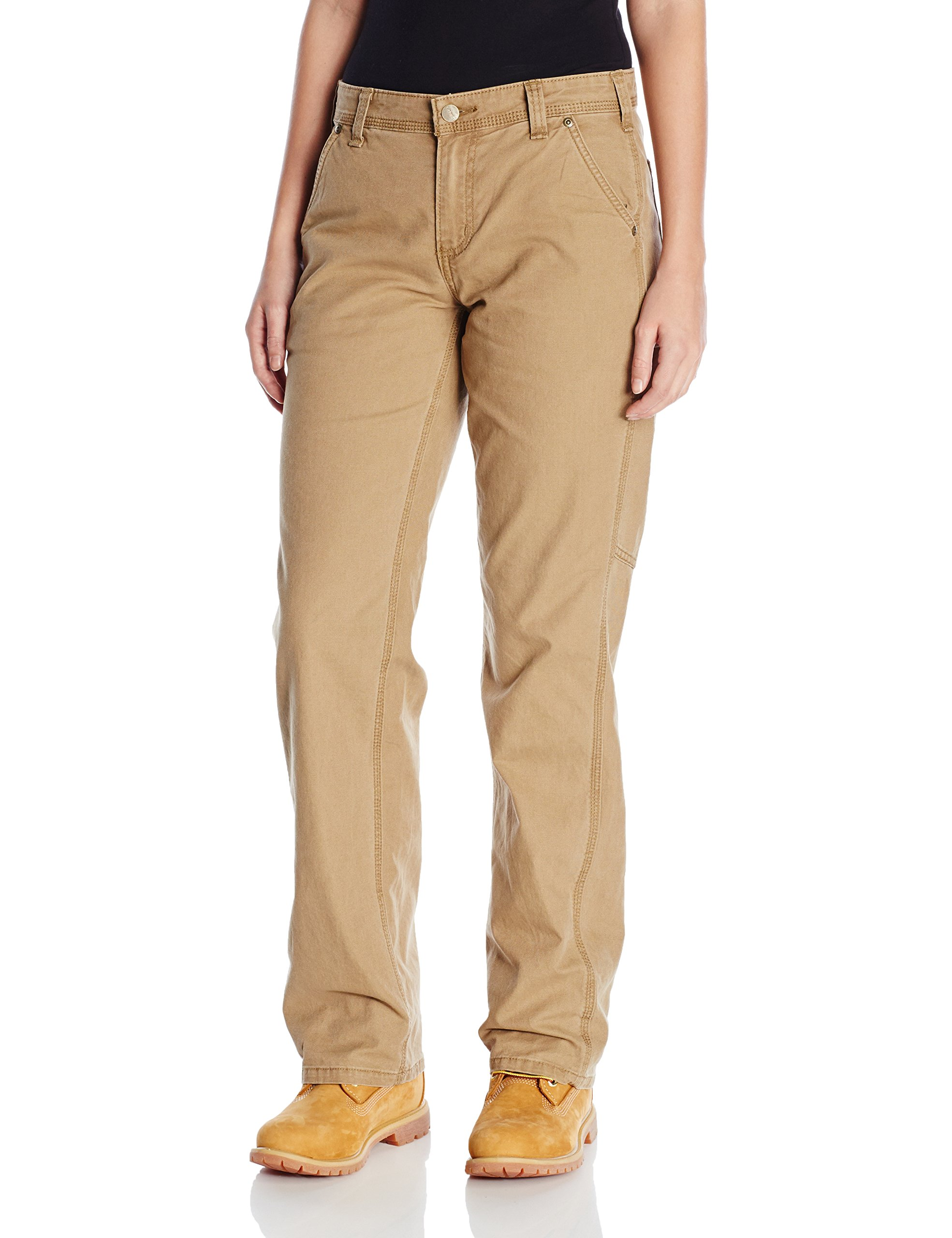 Carhartt Women's Original Fit Crawford Pant, Yukon, 4 Short