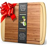 Greener Chef Extra Large Bamboo Cutting Board - Lifetime Replacement Cutting Boards for Kitchen - 18 x 12.5 Inch…