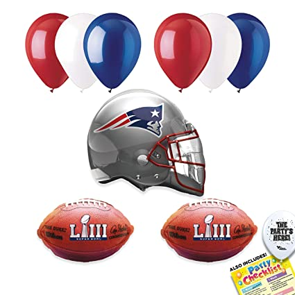 Image Unavailable. Image not available for. Color  New England Patriots  SUPER BOWL 53 Football NFL Sports Team Party Supplies Decorations ... f1e77d791