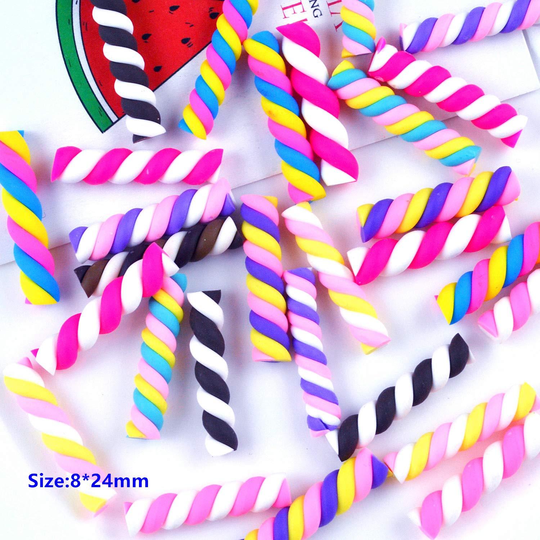 30 colgantes de resina con forma de coraz/ón de arco/íris de malvaviscos cloud heart para manualidades en miniatura /álbumes de recortes multicolor bricolaje accesorios de jard/ín
