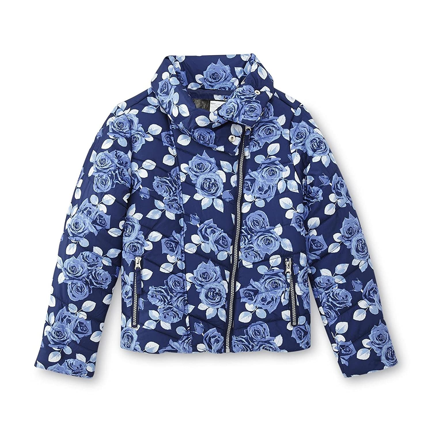 8f9bb1e44213 Amazon.com  Athletech Girls Assymetrical Quilted Puffer Jacket Winter Coat   Clothing