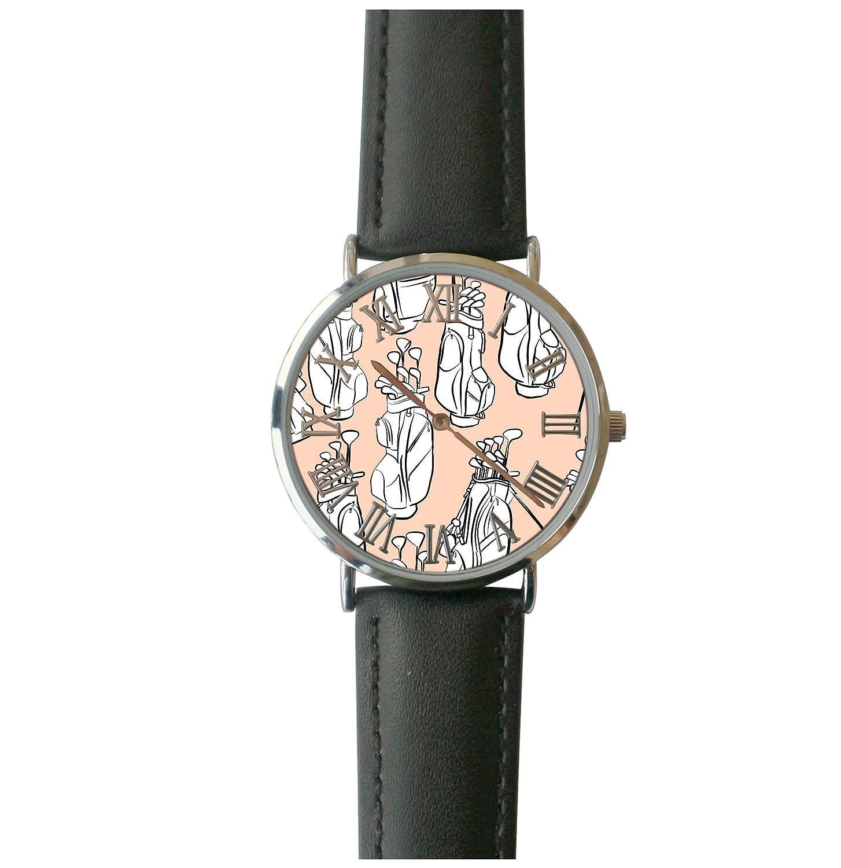 db6f794ff Amazon.com: JISJJCKJSX Golf custom watches quartz watch stainless steel  case: Home & Kitchen