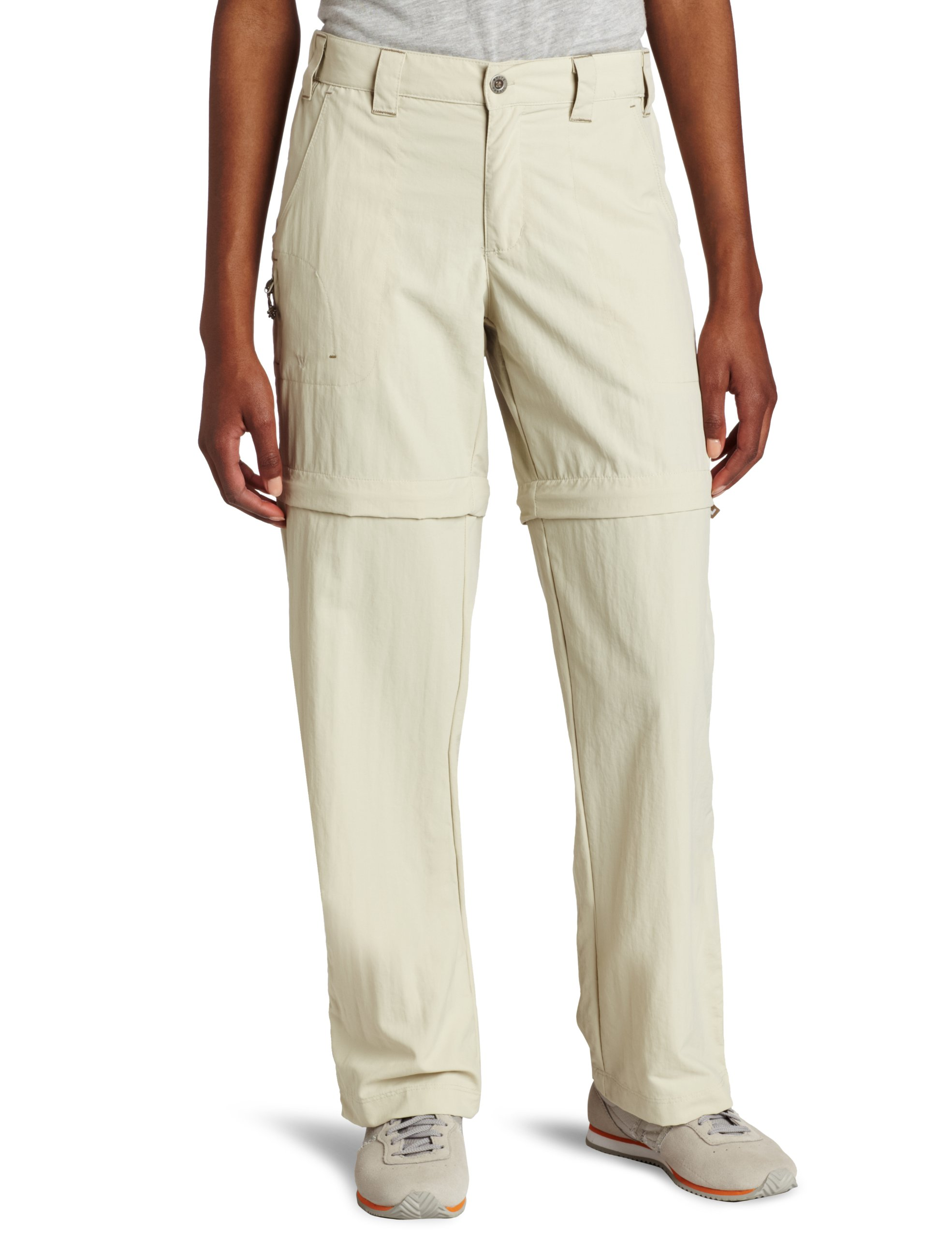 White Sierra Women's Sierra Point 29-Inch Inseam Convertible Pant, X-Large, Stone