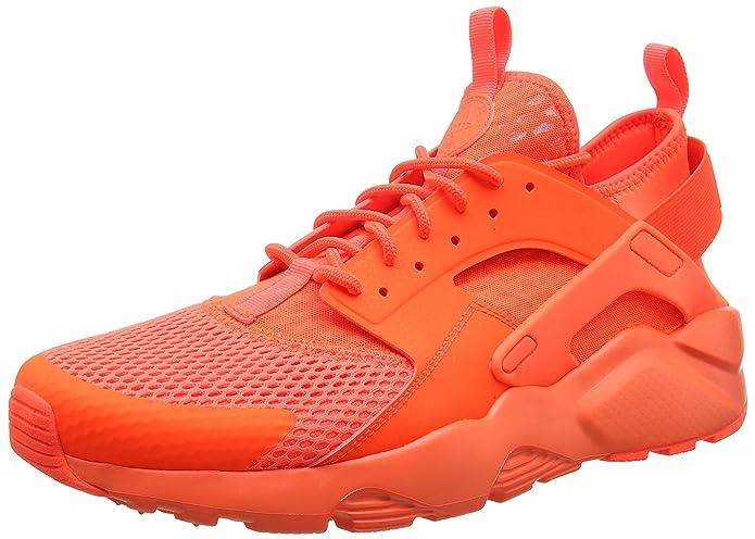 hot sale online 9cf2b f219e Nike Men s Air Huarache Run Ultra Breathe Training Shoes, Orange Total  Crimson, 11 UK 46 EU  Amazon.co.uk  Shoes   Bags