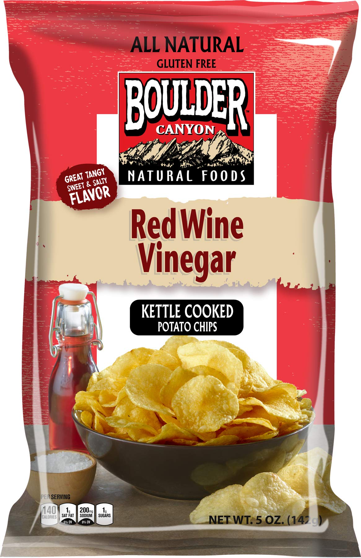 BOULDER CANYON Red Wine Vinegar Kette Chips, 5 OZ by Boulder Canyon