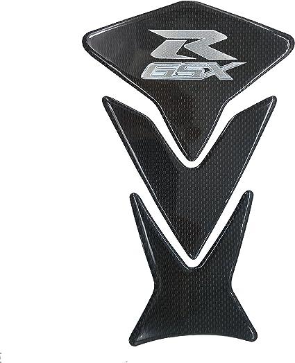 9 inches Real Carbon Fiber 3D Chrome Sticker Vinyl Decal Emblem Protection Gas Tank Pad For Suzuki Hayabusa