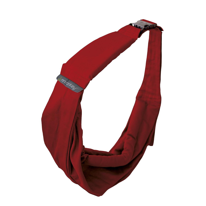 Minimonkey–Pañuelo portabebés, color rojo 8718144960051