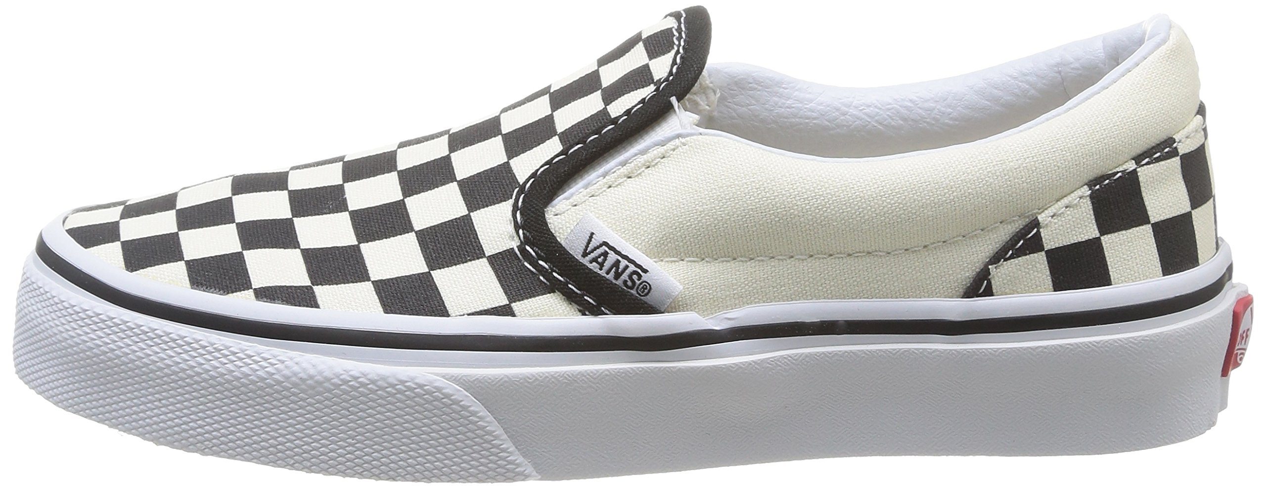 Vans Kids Classic Slip-On (Little Big Kid), ((Checkerboard) Black/White, 13 M by Vans (Image #5)