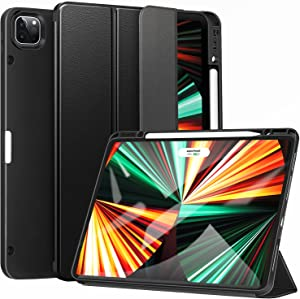 ZtotopCases for New iPad Pro 12.9 Inch Case 2021 5th Generation with Pencil Holder, [Auto Sleep/Wake+Full Body Protection] Soft TPU Back Cover for iPad 12.9