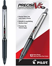 Pilot Precise V5RT Retractable Rolling Ball Pen Ink .5mm Pack of 12 Black (26062) Retractable, Premium Comfort Grip, Patented Precision Point Technology for Smooth Lines to End of Page