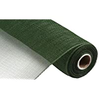 10 Inch x 30 Feet Deco Poly Mesh Ribbon (Moss Green Non Metallic, 10 Inch)