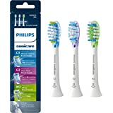 Genuine Philips Sonicare replacement toothbrush head variety pack - Premium Plaque Control, Premium Gum Care &  Premium White, HX9073/65, BrushSync technology, White 3-pk
