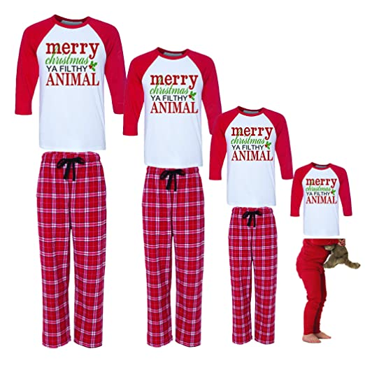 Merry Christmas Ya Filthy Animal Family Christmas Family Pajamas at Amazon Women s  Clothing store  0ac8151ee