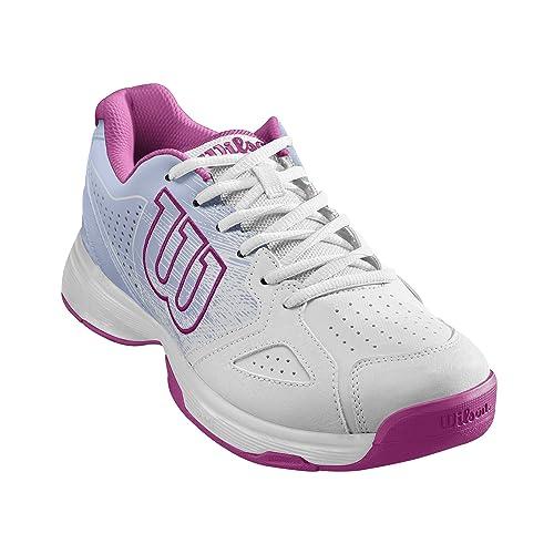 8a0059f7 Wilson KAOS STROKE W, Zapatillas tenis mujer, todos los niveles y terrenos,  , tejido/sintético, blanco/rosa: Amazon.es: Zapatos y complementos