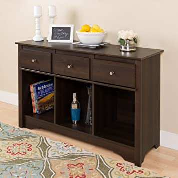 Amazon.com: Espresso Living Room Console: Kitchen & Dining