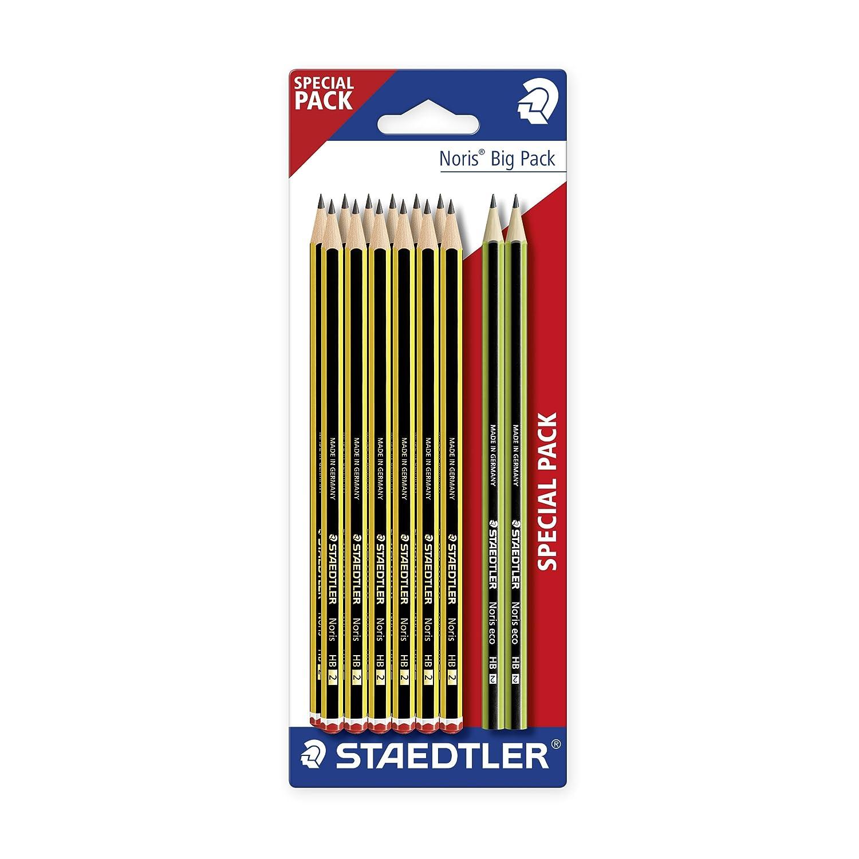 Staedtler, 120BK12P2,confezione speciale di matite 12Noris 120-HB e 2Noris Eco, set in blister 120 BK12P2ST