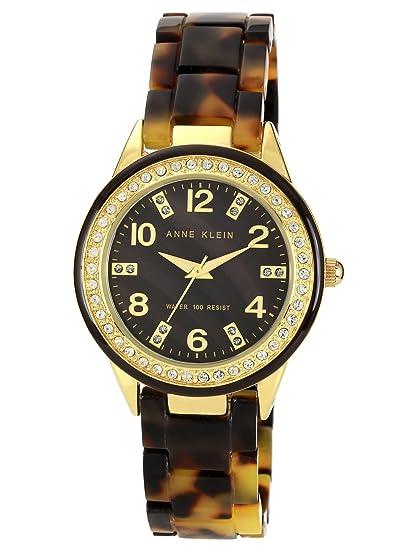 Anne Klein 10/9956BMTO - Reloj de pulsera Mujer, Plástico, color Marrón