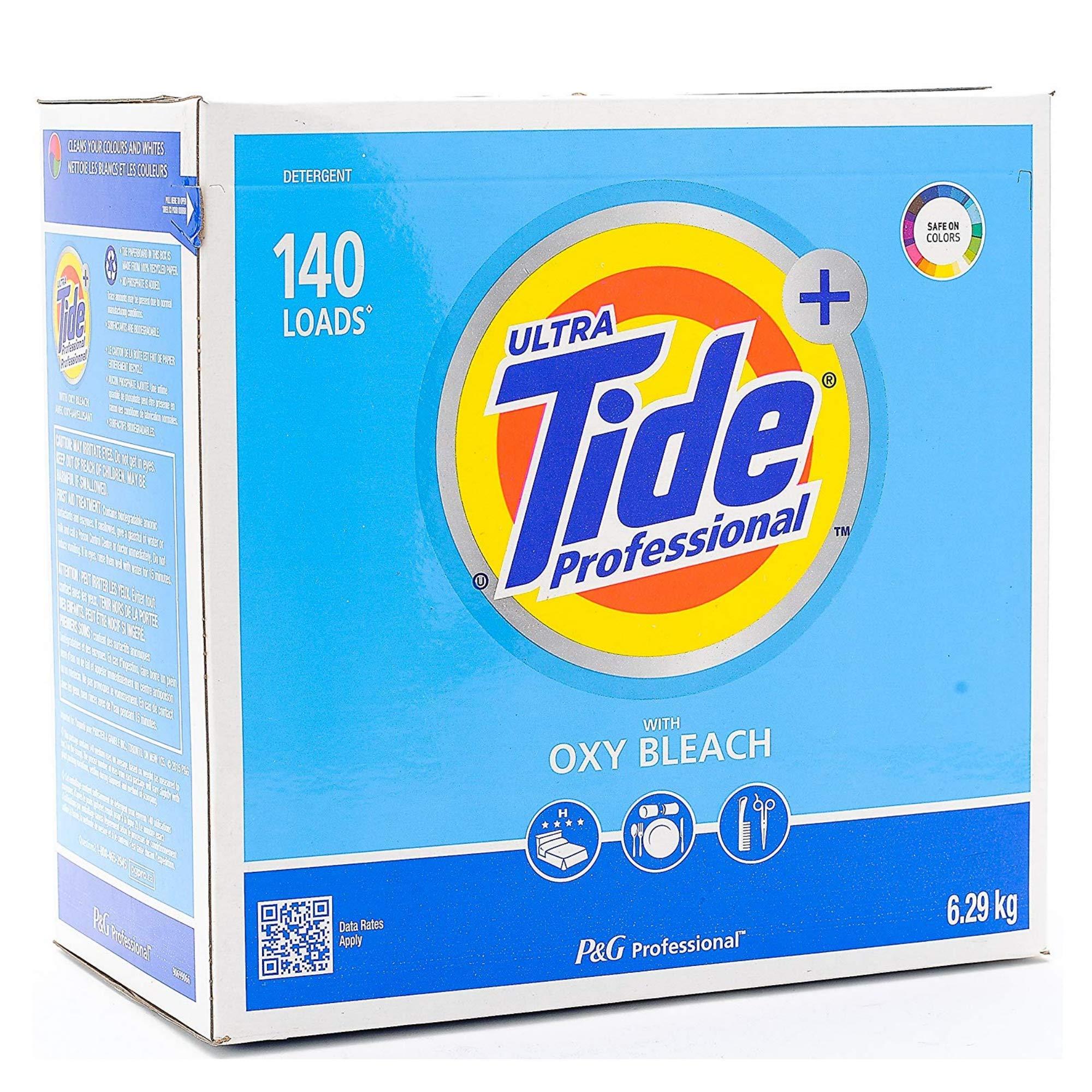 Tide Ultra Tide Professional with OXY Bleach, Powder Detergent, 140 Loads, 15.5 Lbs / 6.29 Kg