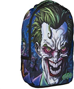 DC Comics Joker Molded Rubber Backpack, Fits Laptops Up to 17in, Multi, One Size