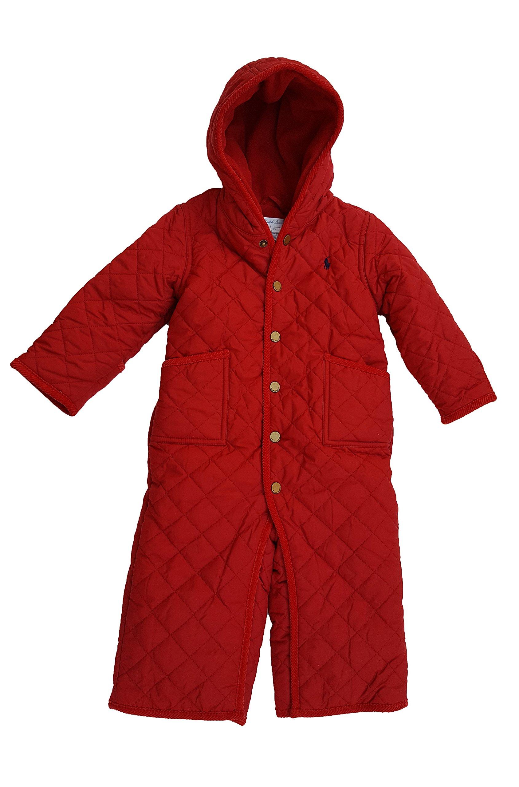 Ralph Lauren Baby Quilted Bunting Snowsuit (12 Months, Camden Red)