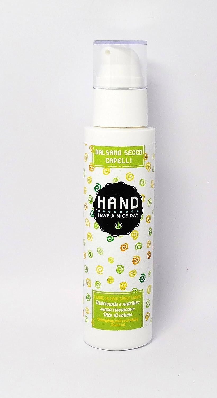 HAND - Acondicionador Orgánico Seco Anti Encrespamiento - Basado en aceite de algodón con jugo de manzana rosa - para cabello sedoso, suave y delicioso - ICEA, vegano, AIAB y níquel probado - 150 ml