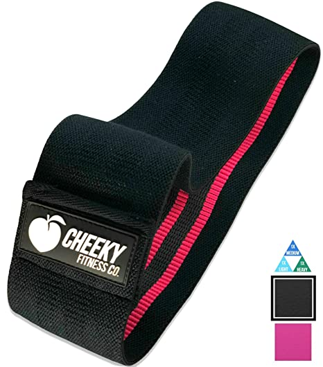 """Cheeky Fitness Booty Band Soft Fabric Non-Slip Hip Circle Glute Building For /"""""""