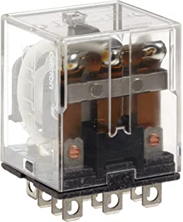 Omron LY3F-AC120 General Purpose Relay 120 VAC Rated Load Voltage 17.3 mA at 50 Hz and 14.8 mA at 60 Hz Rated Load Current Single Contact Standard Type Triple Pole Double Throw Contacts Upper Mounting Bracket Plug-In//Solder Terminal