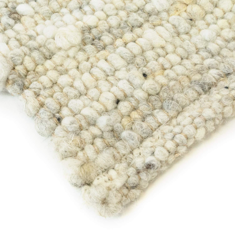 Hand-Web-Teppich   Reine Schur-Wolle im im im Skandinavischen Design  Für Wohnzimmer Esszimmer Schlafzimmer Flur Kinderzimmer   Grau Beige (Sand - 60 x 110 cm) B0778P145M Teppiche b5388b
