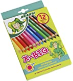 Jolly X-Big Jumbo Colored Pencils; Set of 12, Perfect for Special Needs, Art Therapy, Pre-School and Early Learners