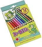 Jolly X-BIG Buntstifte | 12 Extradicke Farbstifte | Extrem Bruchsicher und Langlebig | Ungiftig | 12 Stück im Kartonetui