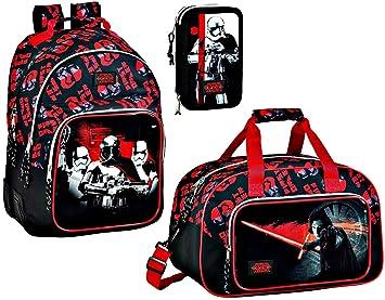 Star Wars VIII Mochila escolar, Bolsa Deporte y bolsa de plumas, plumero, negro: Amazon.es: Equipaje