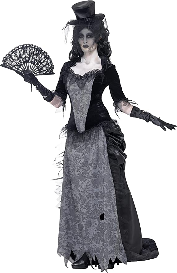 Victorian Costumes: Dresses, Saloon Girls, Southern Belle, Witch Smiffys Womens Ghost Town Black Widow Costume $49.53 AT vintagedancer.com