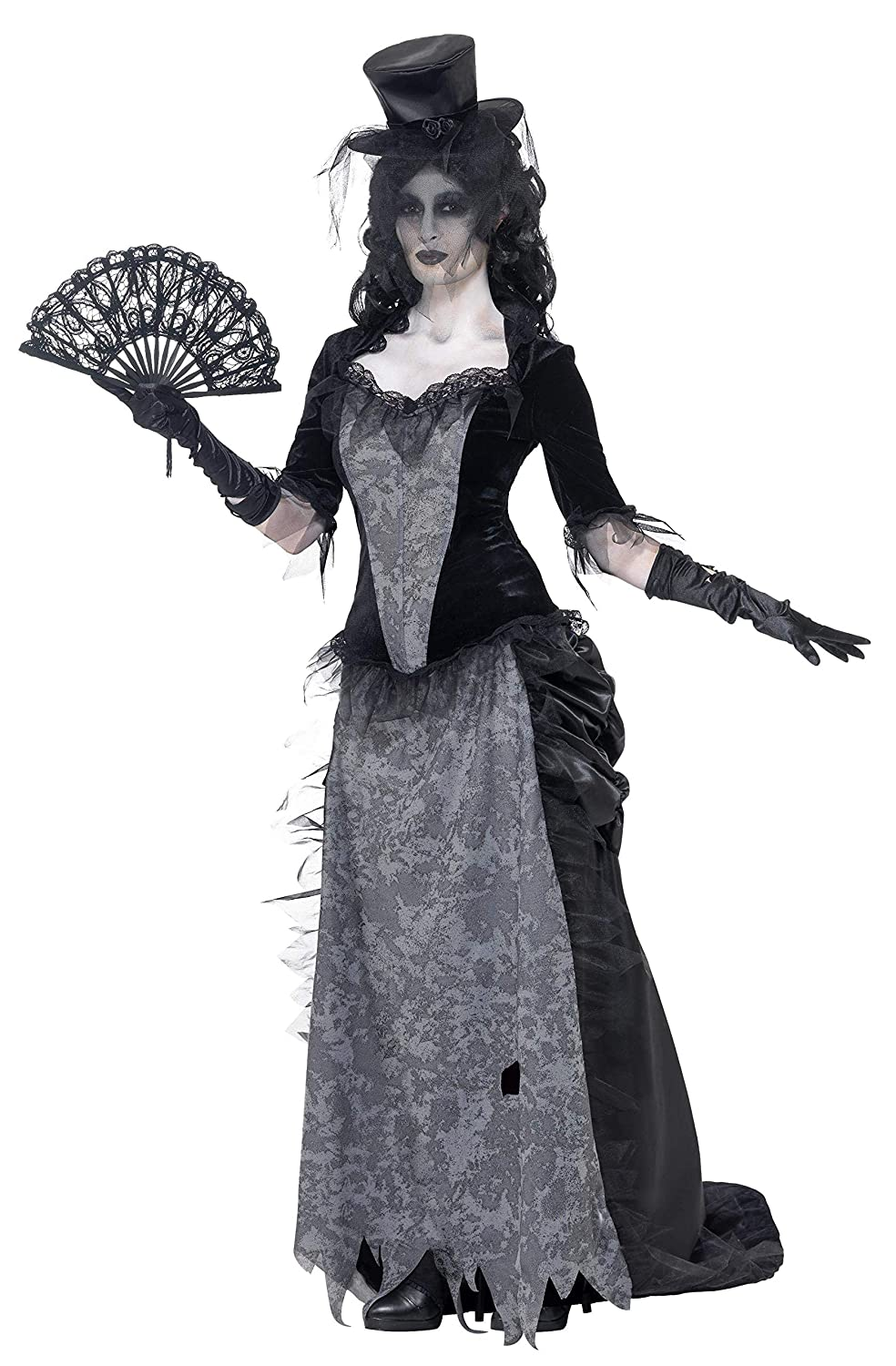 Make an Easy Victorian Costume Dress with a Skirt and Blouse Ghost Town Black Widow Adult Costume $45.06 AT vintagedancer.com