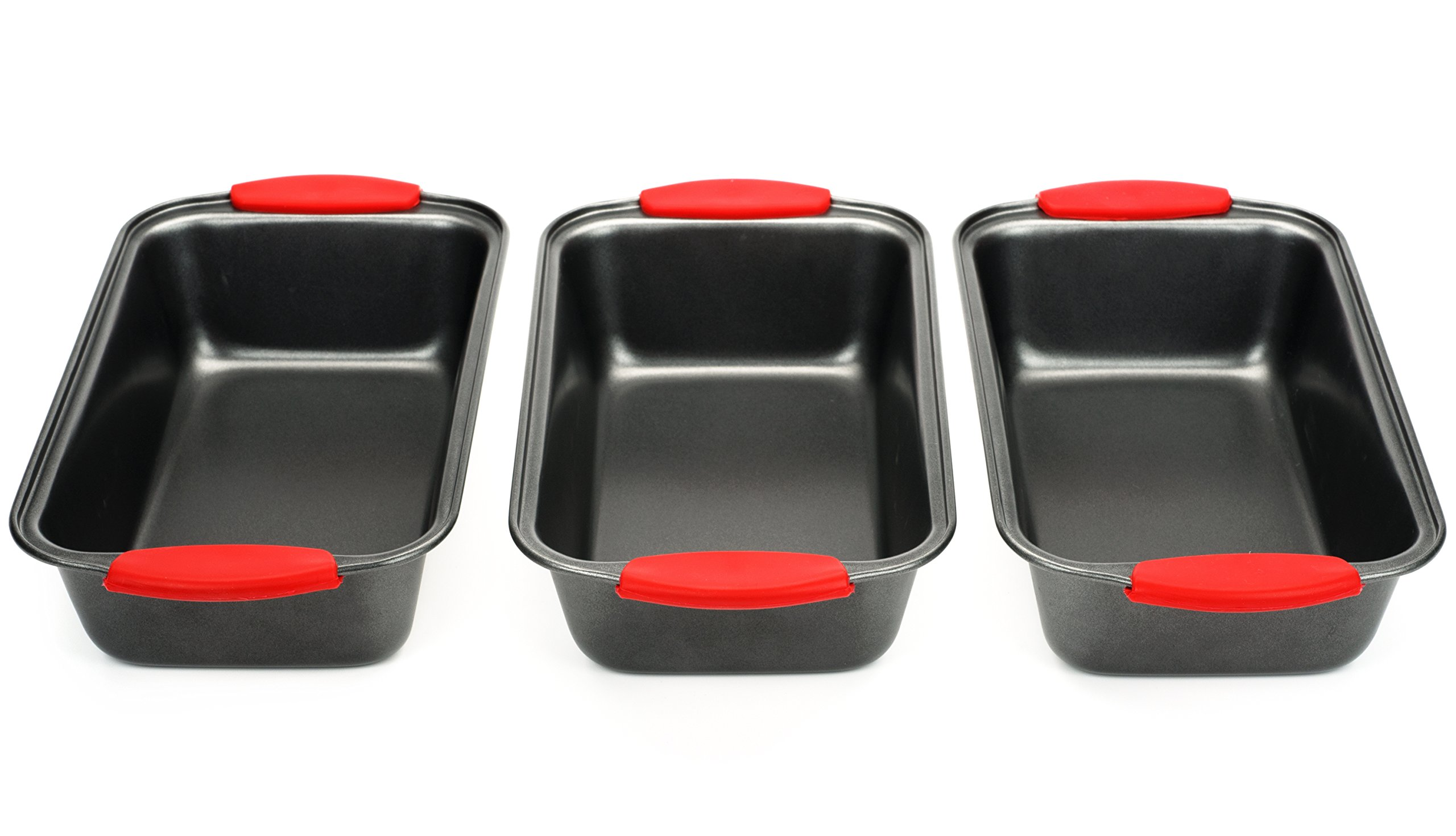 Elite Bakeware 3 Piece NonStick Bread Pan Set - Loaf Pans For Bread - Baking Pans - Bakeware Set by Elite Bakeware (Image #2)
