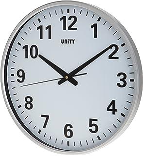 Unity Fradley 30 cm 12inch Silent Sweep Modern Wall Clock White