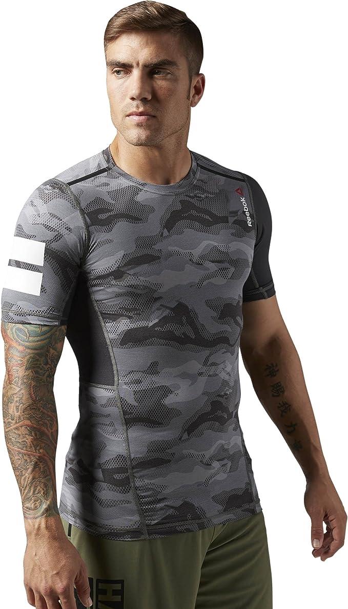 Reebok – Camiseta para Hombre One Series Elite Quik Cotton Short Sleeve Comp Top, Blue: Amazon.es: Ropa y accesorios