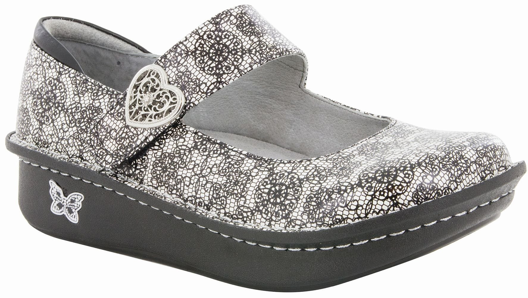 Alegria Paloma Women's Slip On 44 M EU Black-White-Grey