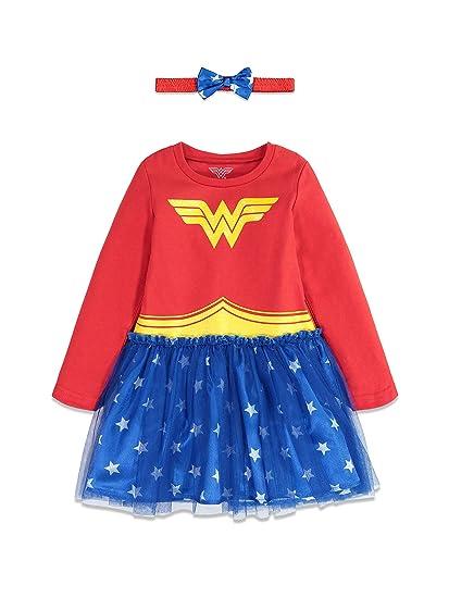 DC Comics Vestido de Manga Larga de Wonder Woman con Capa y ...